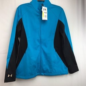 62ef03ff7d37 ... Colorblock Polo Classic 2XL NWT under armour jacket golf cold gear SZ M  ...